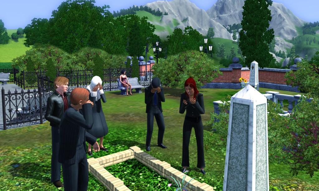 """Eine Beerdigung in """"Sims 3"""""""