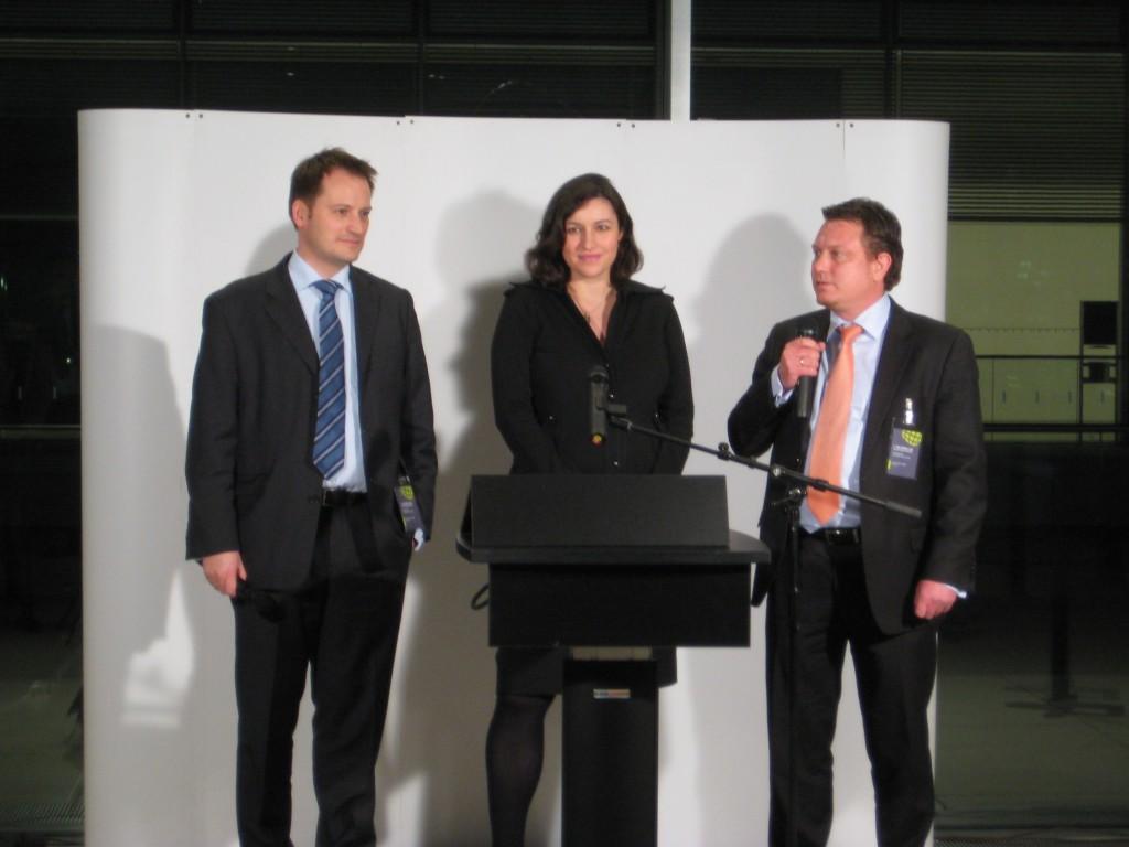 Die Initiatoren der Bundestag-LAN: Manuel Höferlin (FDP), Dorothee Bär (CSU) und Jimmy Schulz (FDP)