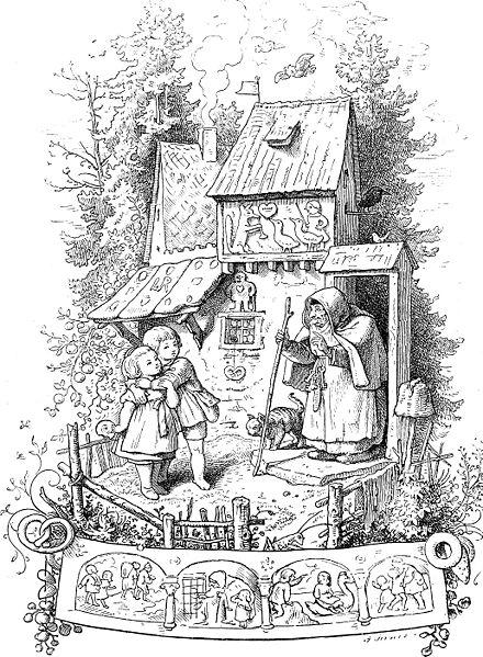 Hänsel und Gretel, eines der Märchen der Gebrüder Grimm (Quelle: wikipedia.org / Ludwig Richter)