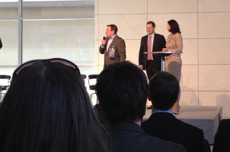 Die Initiatoren der Veranstaltung Dorothee Bär, Manuel Höferlin und Jimmy Schulz bei der Begrüßung