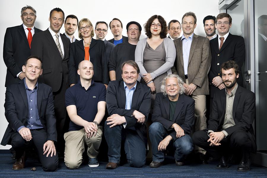 Die Teilnehmer der konstituierenden Beiratssitzung der Stiftung Digitale Spielekultur am 06.06.2013