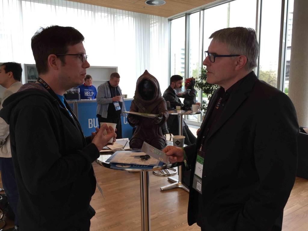 Auf der QuoVadis 2015 treffe ich Marc Kamps, der mir seine Idee für die Patchie-App zur Therapie von Mukoviszidose vorstellt.