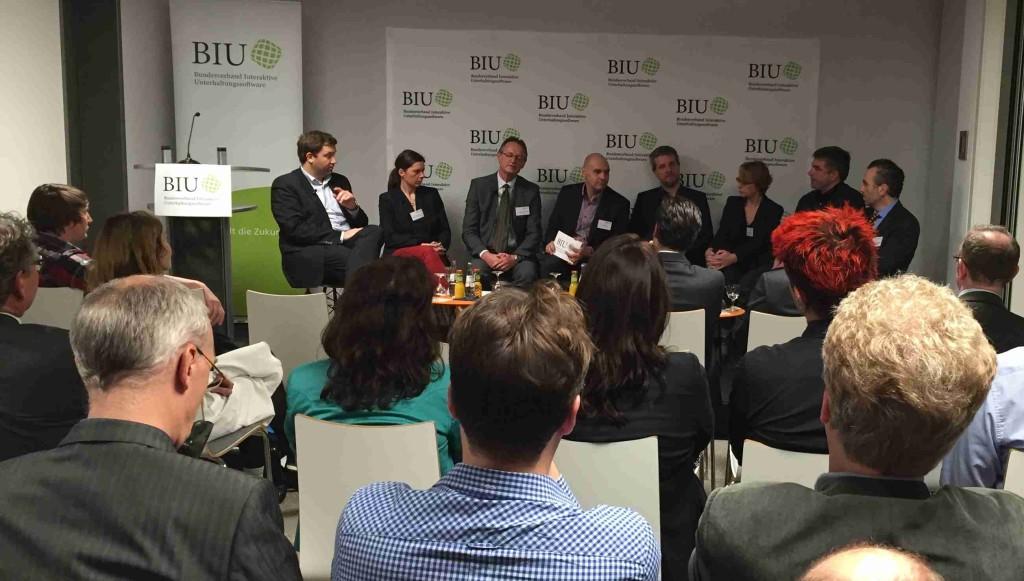 Diskussionstunde beim Talk@BIU in Berlin.