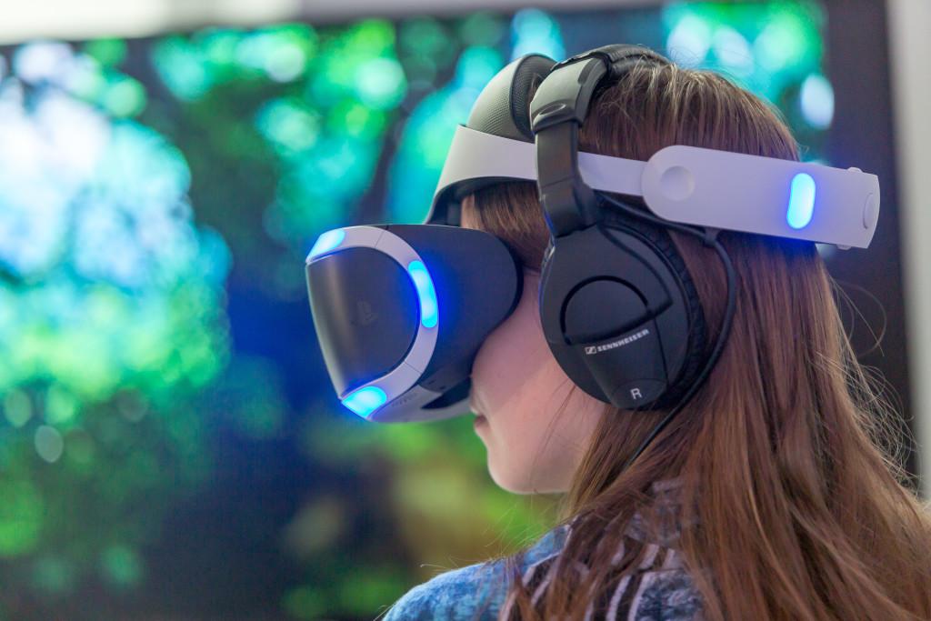 Virtual Reality Anwendung auf der gamescom Pressekonferenz