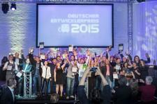 Die Gewinner des deutschen Entwicklerpreises 2015 (Bild: Aruba Events GmbH)
