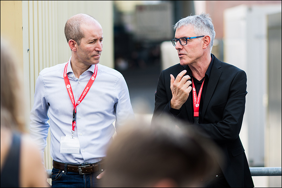 Olaf Coenen und ich, Electronic Arts (Quelle: WHU)