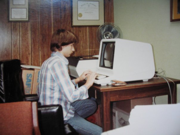 Using a Plato IST-II terminal, circa 1978-1980; Author: Mabu2
