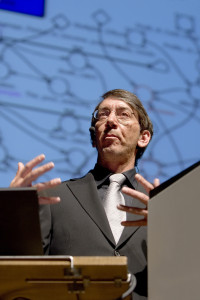 Will Wright auf der Games Convention 2006 in Leipzig.